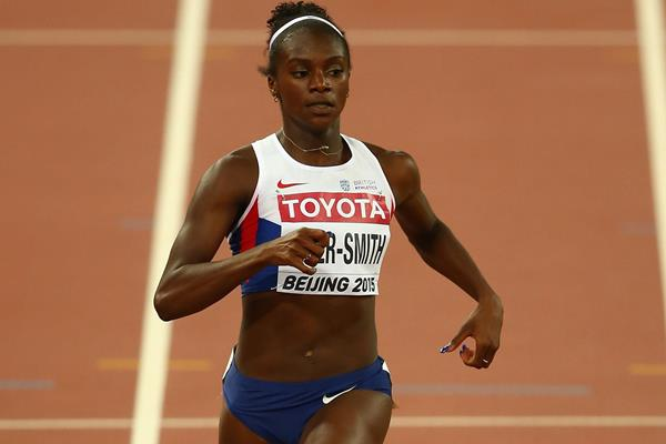 Dina Asher-Smith in the 200m at the IAAF World Championships, Beijing 2015 (Getty Images)