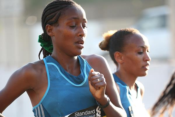 Shure Demise competes in the 2015 Dubai Marathon (Organisers)