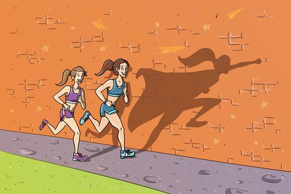 Inspired by a fellow runner (Christel Saneh)