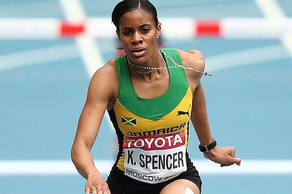 Kaliese Spencer in the 400m hurdles at the IAAF World Championships (Getty Images)