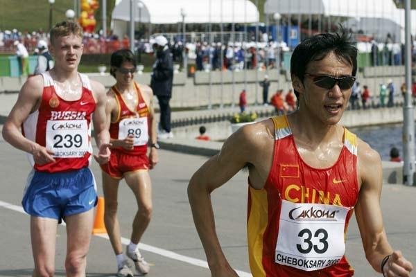 Ding Chen of China during the Junior Men's 10km race (Getty Images)
