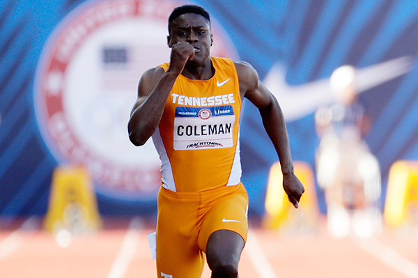 US sprinter Christian Coleman (Getty Images)
