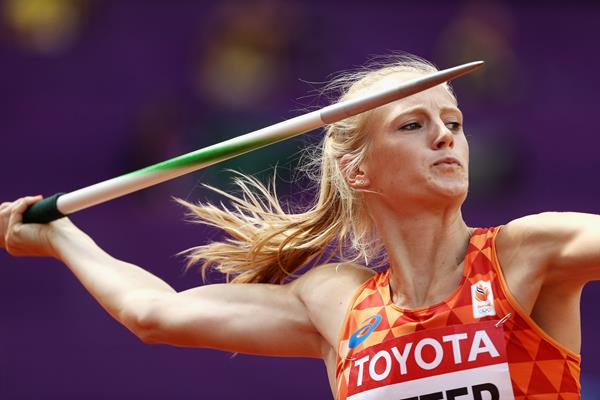 Anouk Vetter in the heptathlon javelin at the IAAF World Championships London 2017 (Getty Images)