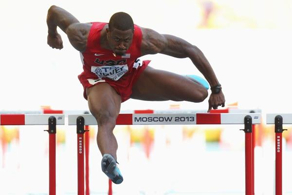David Oliver in the mens 110mH at the IAAF World Championships Moscow 2013 (Getty Images)