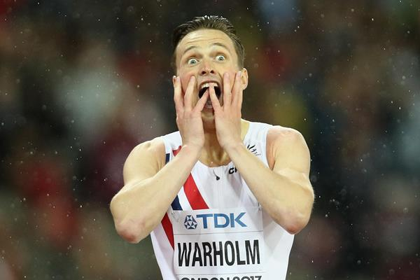 Karsten Warholm after pulling off one of the biggest surprises of the IAAF World Championships London 2017 (Getty Images)