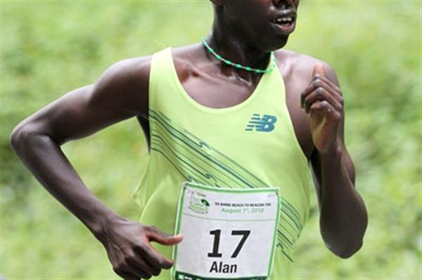 Alan Kiprono at the TD Bank Beach to Beacon 10K (Victah Sailer)