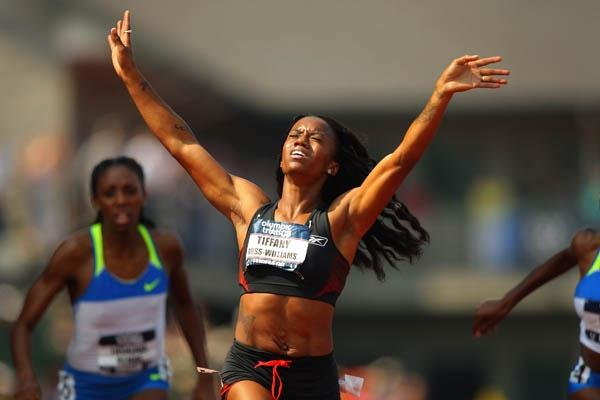 Tiffany Ross-Williams after her convincing 54.03 victory at the U.S. Trials (Getty Images)