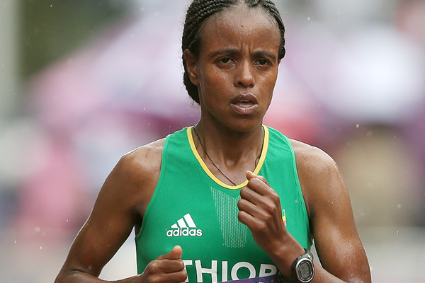 Mare Dibaba in the marathon at the Olympic Games (Getty Images)