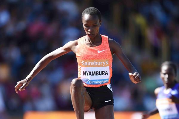 Virginia Nyambura at the 2015 IAAF Diamond League meeting in Birmingham (Jean-Pierre Durand)