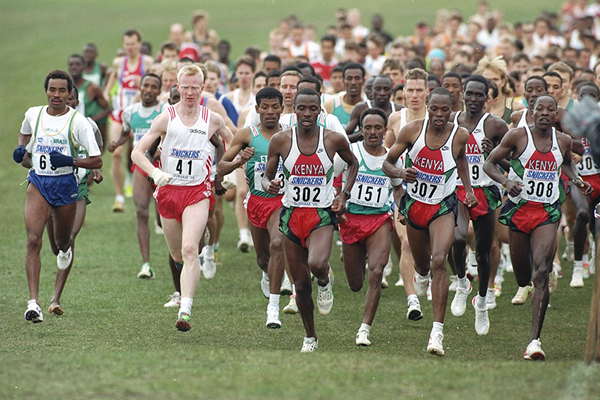 The senior men's race at the 1995 IAAF World Cross Country Championships in Durham (Getty Images)