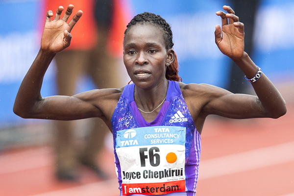 Joyce Chepkirui wins the Amsterdam Marathon (AFP / Getty Images)