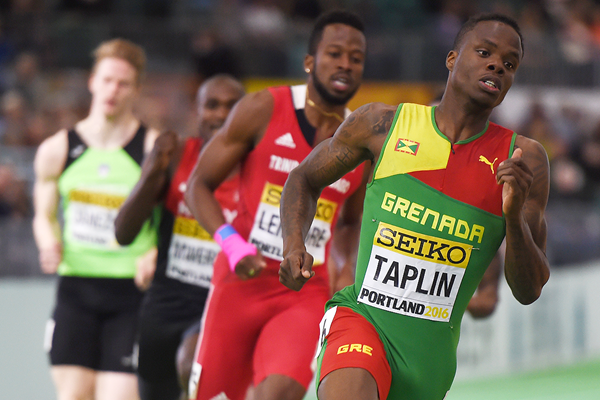 Bralon Taplin in the 400m semifinals at the IAAF World Indoor Championships Portland 2016 (AFP / Getty Images)