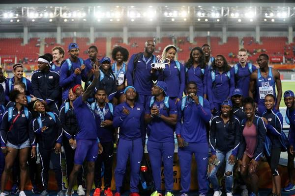 2017 Golden Baton winners, USA - IAAF/BTC World Relays Bahamas 2017 (Getty Images)