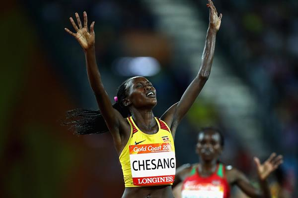 Stella Chesang wins the Commonwealth 10,000m title (Getty Images)