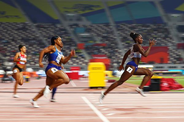 Dina Asher-Smith powers to the 200m title in Doha (Getty Images)