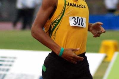 Jamaica's Waquar DaCosta winning the CARIFTA Under-17 boys' 1500m in St. Kitts (Anthony Foster)