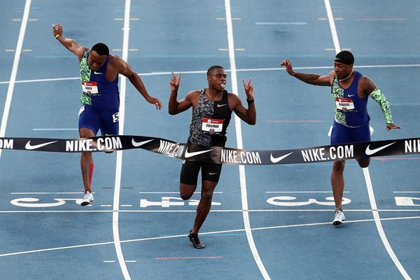 Christian Coleman collects his first US 100m title (Getty Images)