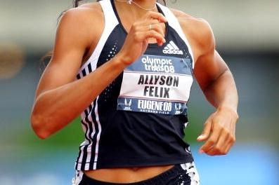 Allyson Felix in the 200m at the US Olympic Trials (Getty Images)