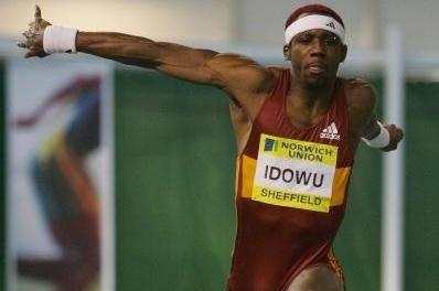 Phillips Idowu triple jumping at the UK Indoor Champs in Sheffield (Getty Images)