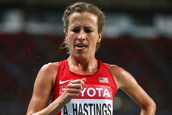 USA's Amy Cragg (nee Hastings) in action at the IAAF World Championships (Getty Images)