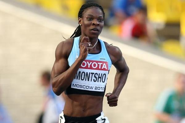 Amantle Montsho in the women's 400m at the IAAF World Championships Moscow 2013 (Getty Images)