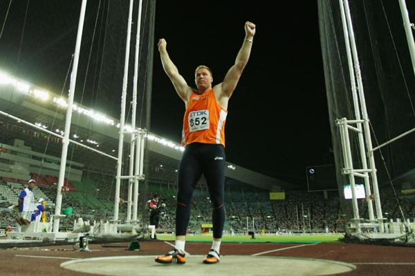 Rutger Smith of Netherlands during the Men's Discus Throw Final (Getty Images)