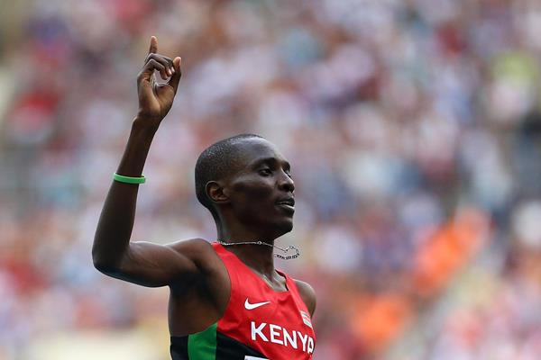 Kenya's Asbel Kiprop celebrates his victory (Getty Images)