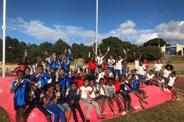 Celebrating Kids Mile Run in Madagascar (Organisers)