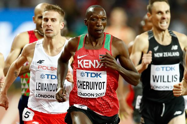 Timothy Cheruiyot in the 1500m at the IAAF World Championships London 2017 (Getty Images)