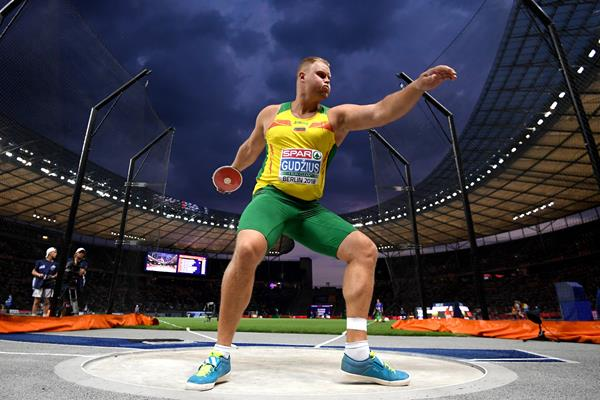 Discus winner Andrius Gudzius at the European Championships in Berlin (Getty Images)