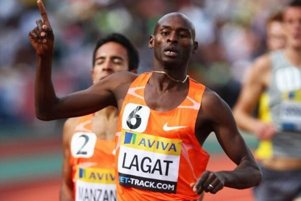 Bernard Lagat wins the Emsley Carr Mile in London (Getty Images)