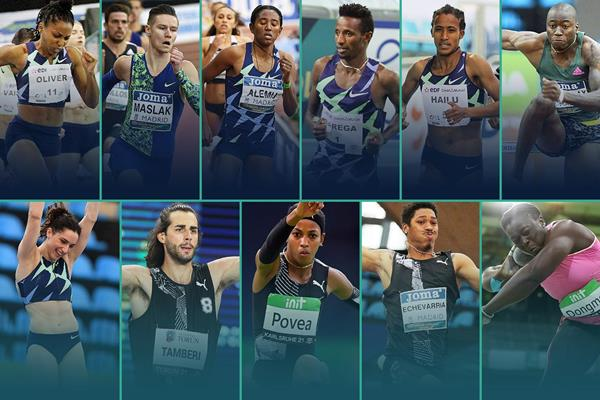2021 World Athletics Indoor Tour winners (Getty / Jean-Pierre Durand)