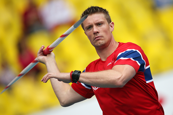 Norwegian javelin thrower Andreas Thorkildsen (AFP / Getty Images)