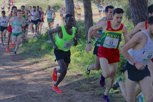 Jamal Abdelmaji Eisa Mohammed at the 2019 European Cross Country Champion Clubs Cup in Albufeira (Alley Runners South Tel-Aviv)