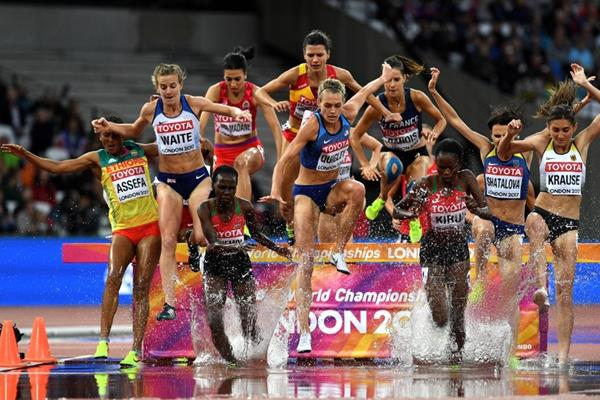 Runners in the second steeplechase opening round heat at the IAAF World Championships London 2017 (Getty Images)
