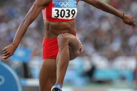 Yamilé Aldama of Sudan in the women's Triple Jump (Getty Images)