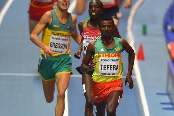 Samuel Tefera at the IAAF World Indoor Championships Birmingham 2018 (Getty Images)