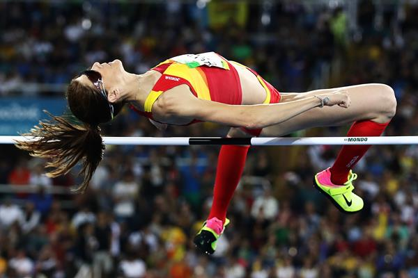 Ruth Beitia in the high jump at the Rio 2016 Olympic Games (Getty Images)