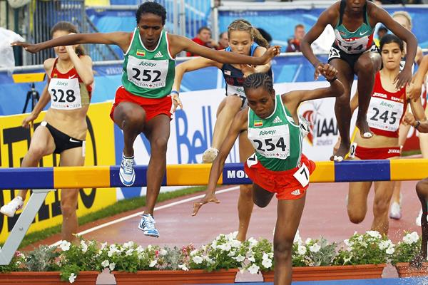 Almaz Ayana (254) in the steeplechase at the IAAF World U20 Championships Moncton 2010 (Getty Images)
