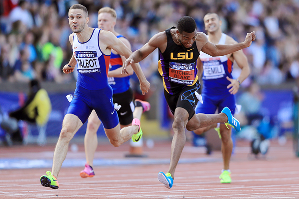 Nethaneel Mitchell-Blake wins the 200m at the British Championships (Getty Images)
