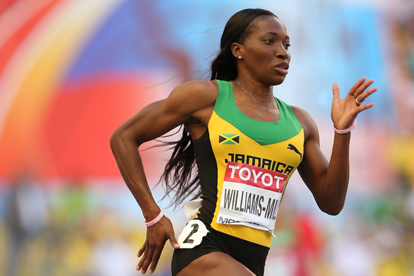 Novlene Williams-Mills in the 400m at the IAAF World Championships Moscow 2013 (Getty Images)