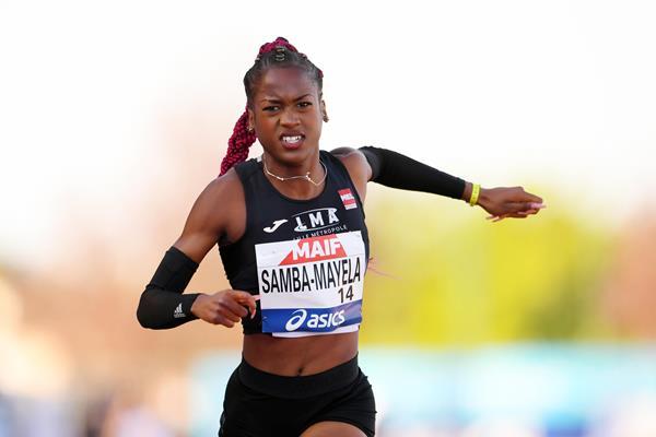 French sprint hurdler Cyrena Samba-Mayela (KMSP / FFA)