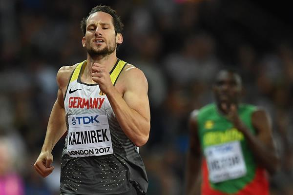 Kai Kazmirek in the decathlon 400m at the IAAF World Championships London 2017 (Getty Images)