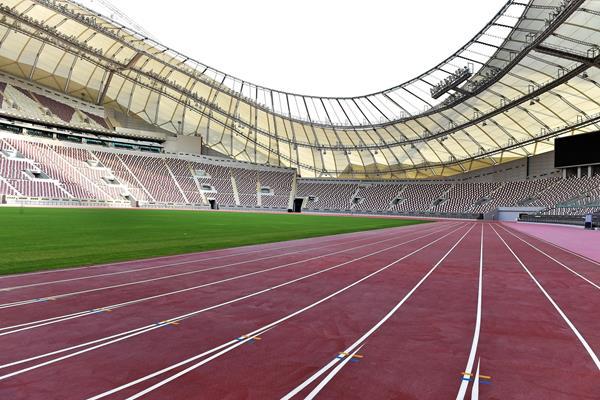Khalifa Stadium track in Doha (LOC)