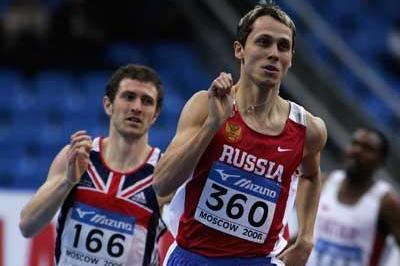 Yuriy Borzakovskiy of Russia during the men's 800m first round heats (Getty Images)