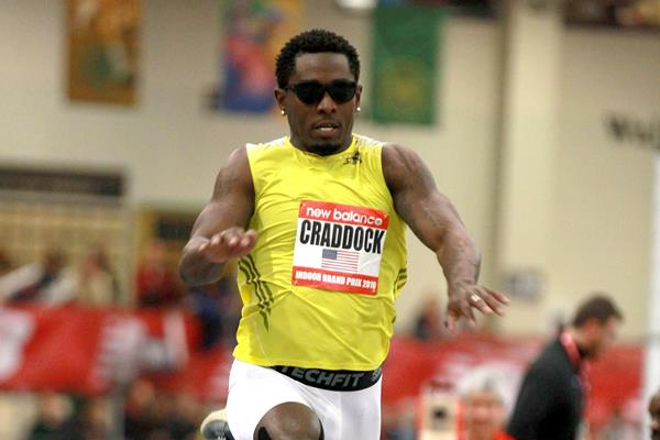 Omar Craddock at the 2016 New Balance Indoor Grand Prix meeting in Boston (Andrew McClanahan)