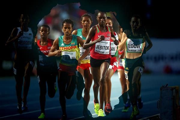 Athletes in action in the women's 1500m in Nairobi (Getty Images)
