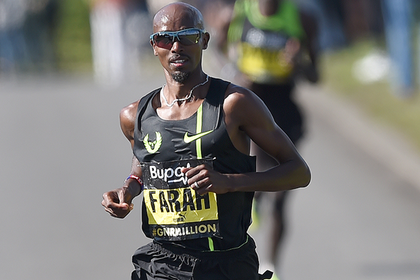 Mo Farah in action at the Great North Run (Getty Images)