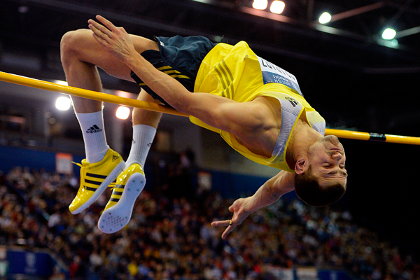 Robbie Grabarz in the high jump at the Birmingham Indoor Grand Prix (AFP / Getty Images)