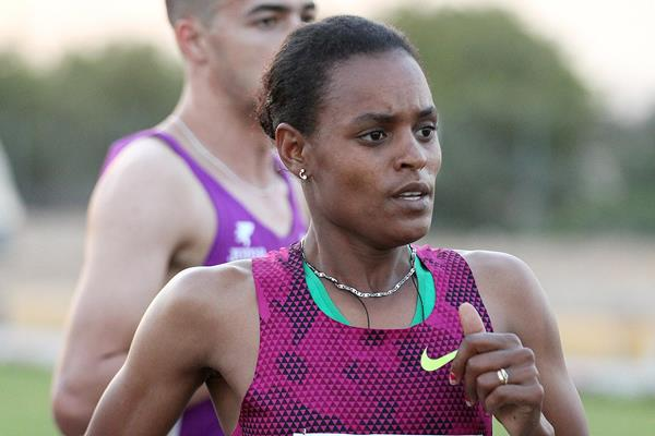 Meseret Hailu at the 2015 RAK Half Marathon (Victah Sailer)